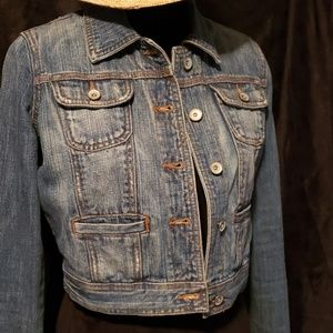 Mossimo Supply Co. Jackets & Coats - Mossimo Denim Crop Jean Jacket